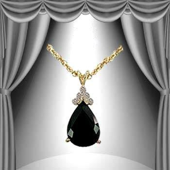 385: Genuine 6 ct. Sapphire Diamond Pendant