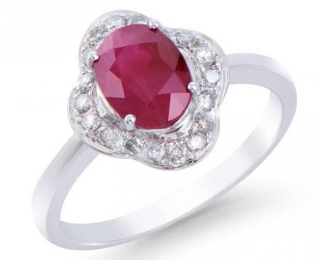 2.28 Ct Certified Ruby & Diamond Gold Ring $7,950.00!