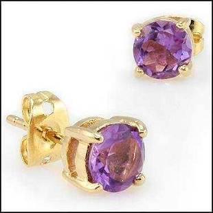 4.22 CT Amethyst Designer Earrings MSRP $770