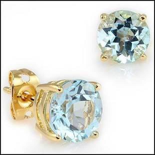 4.72 CT Blue Topaz Designer Earrings $685