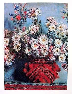 18: Claude Monet FLOWERS IN RED VASE Giclee