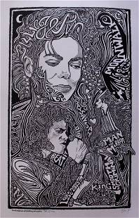 MICHAEL JACKSON King of Pop Hand Signed Posterography