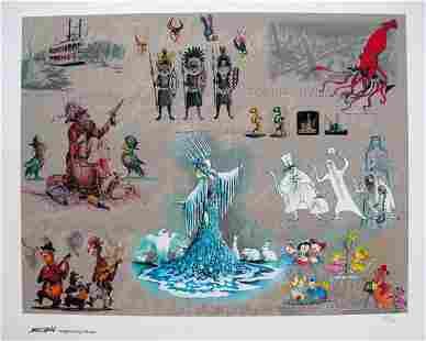 Disney MARC DAVIS DISNEYLAND RIDES Limited Edition