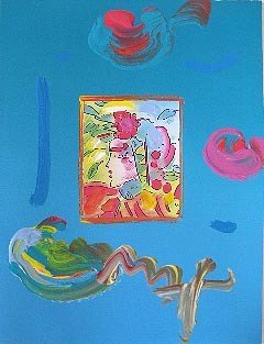 """8: Peter Max """"Profile Series III"""" Hand Signed"""