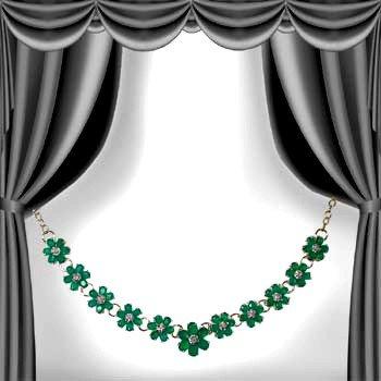 10: Genuine 29 CT Emerald Agate Diamond Necklace