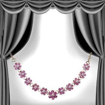 19: Genuine 17 CT Amethyst Diamond Necklace