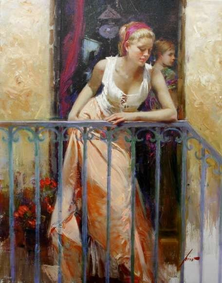 2: Pino Limited Edition Giclee - At the Balcony