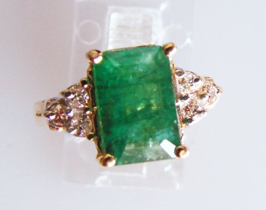 9: Zambian Emerald & Diamond Ring - Appraised at $9,450
