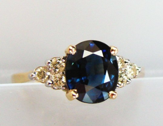 18: Sapphire & Diamond Ring - Appraised at $4,755