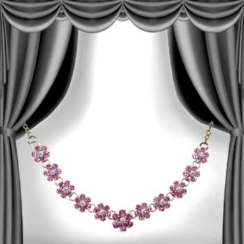19: Genuine 17 CT Amethyst Diamond Necklace