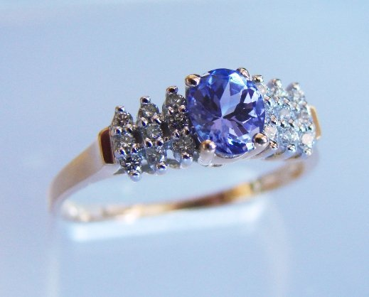 21: Diamond & Tanzanite Ring - Appraised for $7,780
