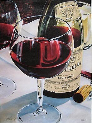 9: Victor Ostrovsky BEAUJOLAIS Hand Signed