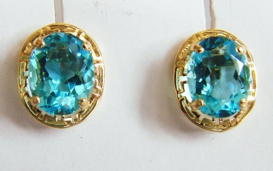 21: 2.30ctw Blue Topaz Earrings Appraised at $2,175