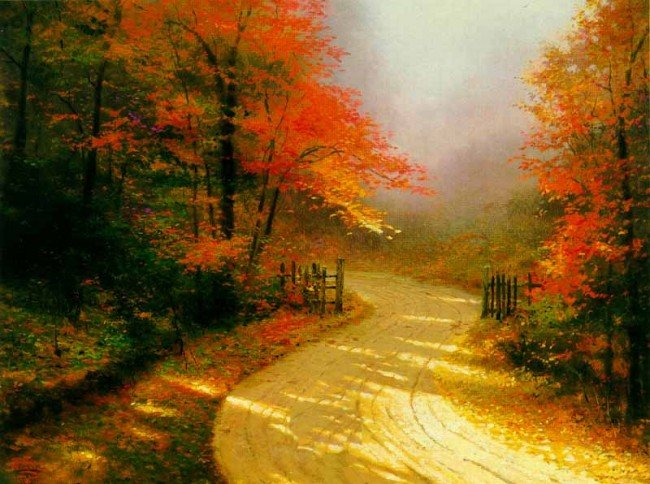 4: Thomas Kinkade Autumn Lane
