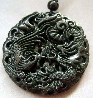 18: MING DYNASTY Hand Carved Jade Dragon Phoeinx