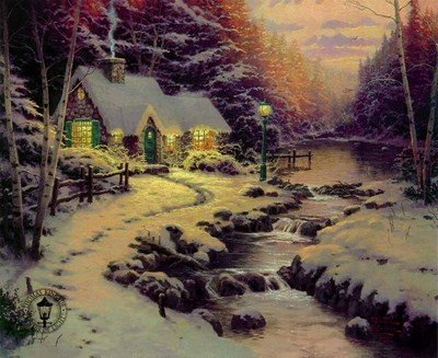 19: Thomas Kinkade Evening Glow