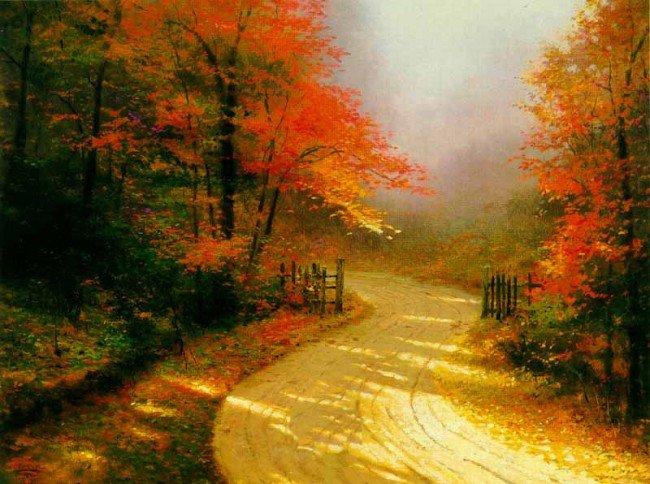 4: Thomas Kinkade Autumn Lane