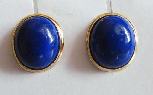 15: 6.70ctw Blue Lapis Earrings Appraised at $2,250