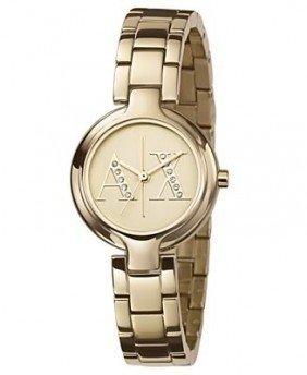 21: Armani Exchange AX4062 Gold Tone Ladies Watch