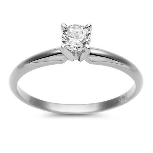 47:1/3 Carat Round Diamond Solitaire Ring 14K $7,150