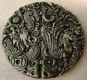 2: Chou Dynasty Jade Carving Phoenix Love