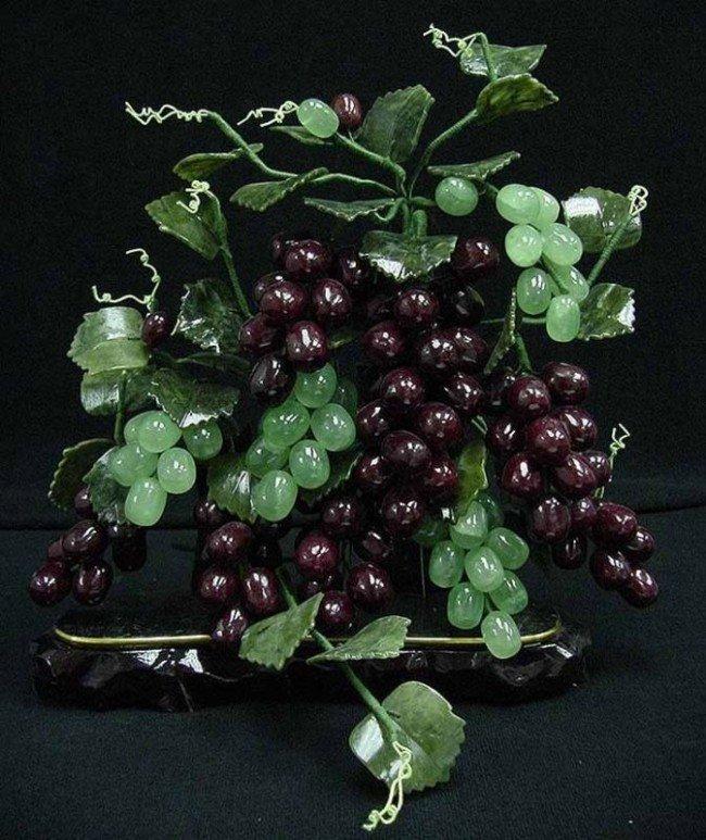 3: Hand Carved Natural Jade Grape Vines