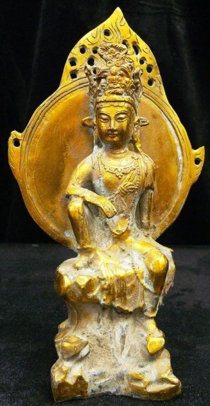 8: Antique Brass Kwanyin - Guangyin
