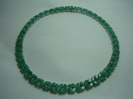277: Marquise Emerald Necklace Appraised at $12,550