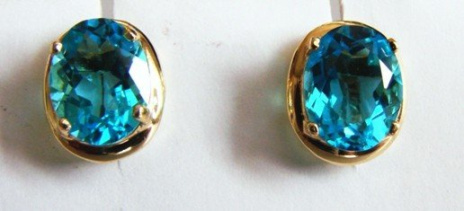 8: 4.10ctw Blue Topaz Earrings Appraised at $2,200