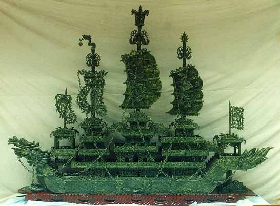 1: Largest Jade Dragon Boat on Earth Very Rare