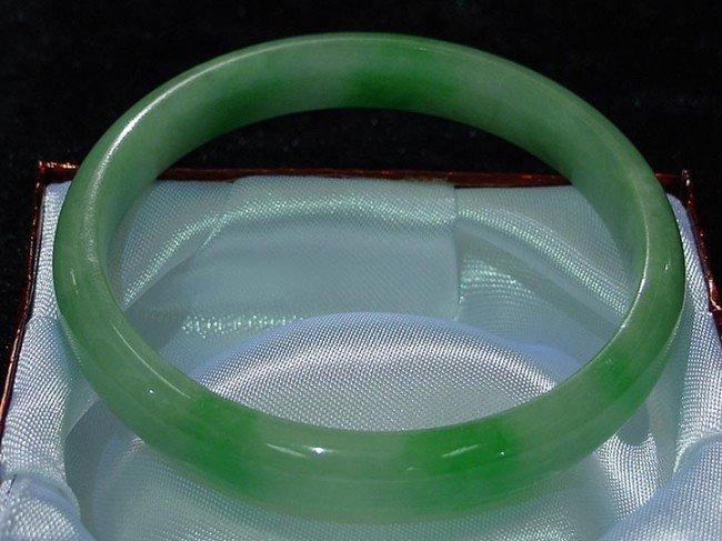 158: Hand Crafted Burmese Jadeite Round Bracelet