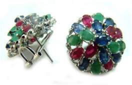 275 580 CT MultiColor Gemstone Earrings Appraised 3