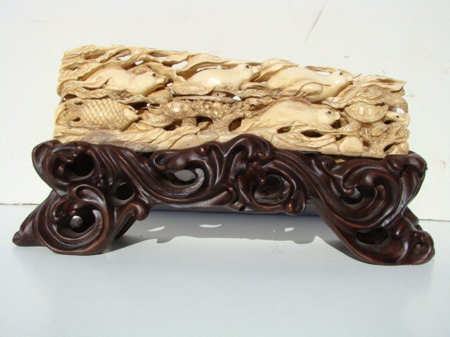 5: Rare Hand Carved Ivory Figurine Life Aquatic