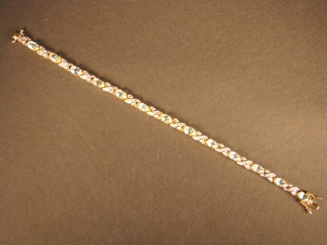 5: Genuine 8 CT Blue Topaz Diamond Bracelet