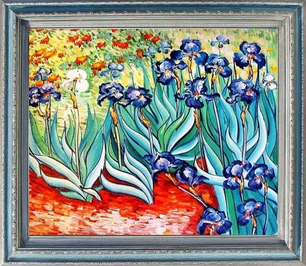 5: Large Framed Oil Painting, Iris Field