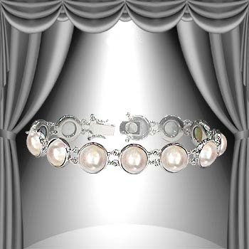 8: Genuine 11.5mm Pearl Bracelet