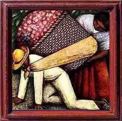 11: Large Framed Oil Painting, A Man's Burden