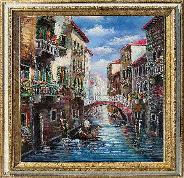 22: Large Framed Oil Painting, Venetian Memoirs