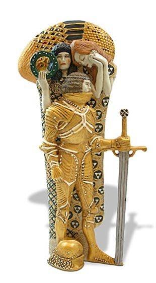 8: Gustav Klimt THE KNIGHT Sculpture