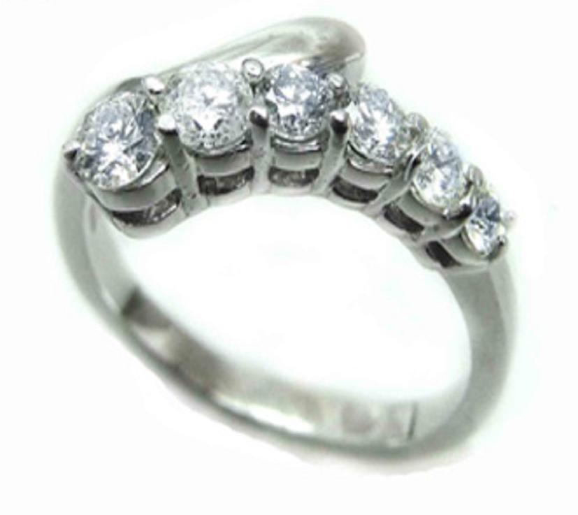 11: 1.20 CT Diamond Anniversary Band Appraised $7,800