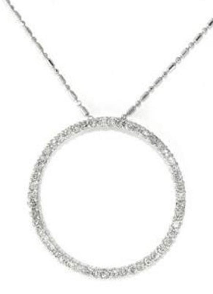 14: 1.10 CTW Diamond Circle Pendant Appraised at $6,000