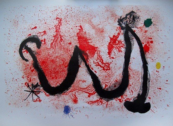 1: Joan Miro W Plate Signed Lithograph