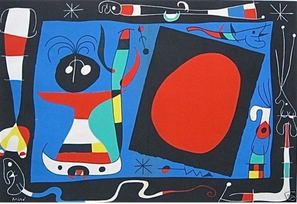 4: Joan Miro WOMAN AT THE MIRROR Limited Ed. Plate Sign