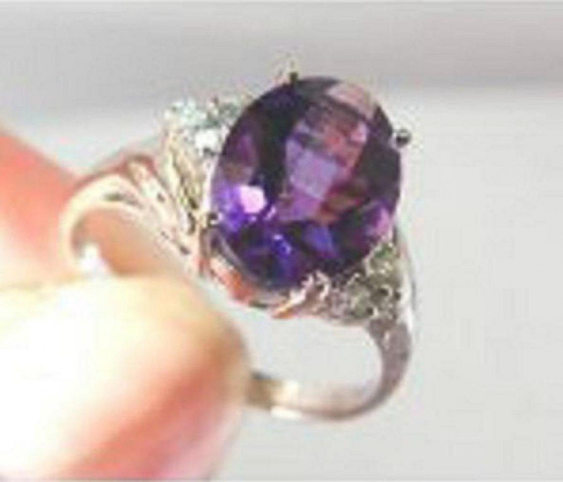 13: Amethyst and Diamond ring - Appraised at $7,850