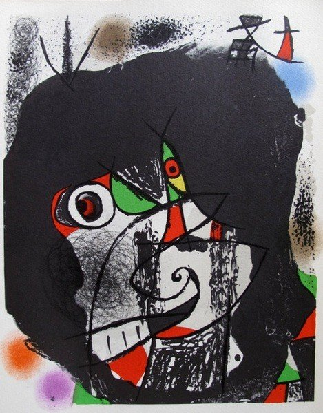22: Joan Miro REVOLUTION 1 Lithograph