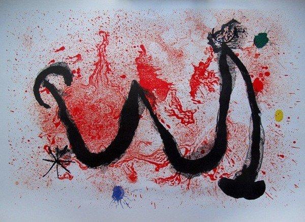 10: Joan Miro W Plate Signed Lithograph