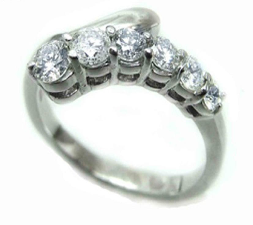 11: 1.20 CT Diamond Anniversary Band Appraised $7,800