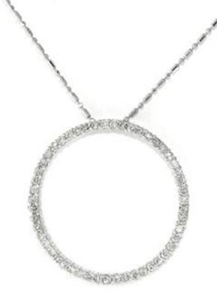 14: 1.10 CTW Diamond Circle Pendant Appraised at $6,000