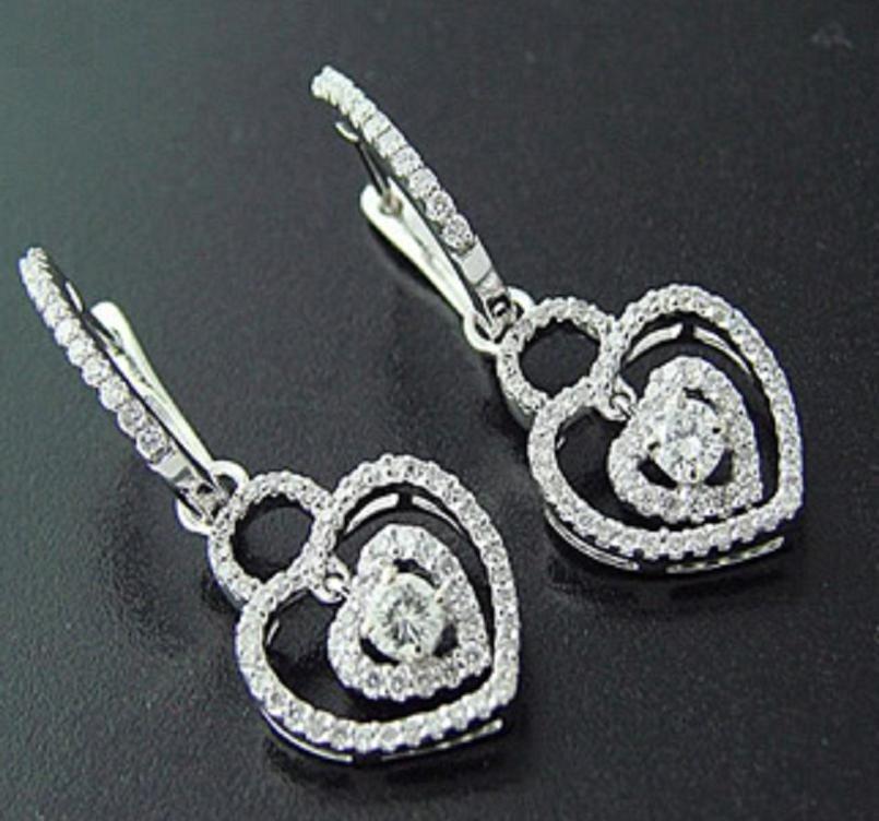 9: 1.64 CTW Diamond Heart Earrings Appraised $8,400