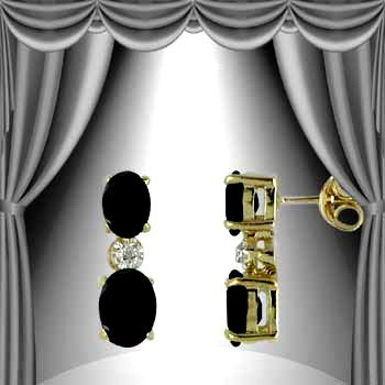 10: Genuine 3 CT Sapphire Earrings